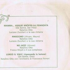 Luciano Zuccheri PINOCCHIO Natalino Otto NO JAZZ - LUNGO IL VIALE - EP vinile
