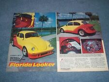 "1973 Volkswagen Custom Street Machine Bug Vintage Article ""Florida Looker"" VW"