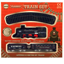AZ 2m Small Express Classic Toy Train SET BINARI carrozze Light & Sound Tree 1576