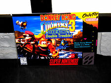"Super Nintendo Snes  Donkey Kong Country 3  Box Cover  Photo Poster 8.5""x11"""
