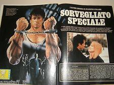 Sylvester Stallone clipping ritaglio articolo foto fotografia 1990