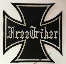 Patch Aufnäher Nr.12 Iron Cross FREE TRIKER Colour Aufnäher Patches BIKER