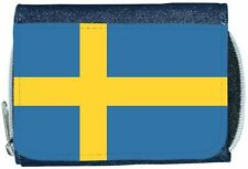 Sweden Flag Denim Wallet