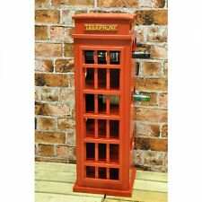 Minster Red Phone Booth Telephone Box London Wine Rack 0062 Holds 12 Bottles