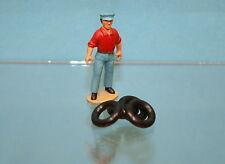 DO1 - Lot de 4 pneus noirs 15/8 pour Ford Vedette 1950 Dinky Toys 24Q