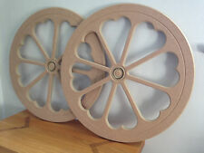 2x590mm Quality MDF Wagon Cart Wheels Events Celebrations 18mm M/ResistantMDF