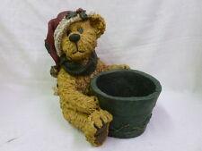 Boyds Bear St. Nick Garden Statue 6514535 Santa Claus Christmas Flower Pot NIB