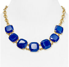 LAUREN Ralph Lauren Royal Blue Faceted Stone Gold-Tone Frontal Necklace $78