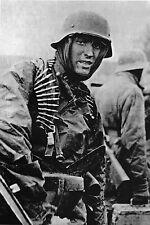 WW2 - Photo - Soldat allemand - Ardennes - Bataille de Poteau