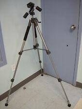 NEW AT-6308 AMVONA DYNATRAN DIGITAL CAMERA TRIPOD WITH 3 WAY PAN HEAD AND BAG