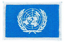 FLAG PATCH PATCHES ONU UNITED NATIONS IRON ON EMBROIDERED SMALL