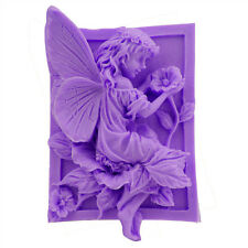 New 3D Wing Angel Flower Genius Fondant Cake Silicone Soap Craft Mold soap mould