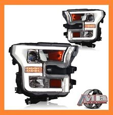 WINJET 2015-2016 Ford F150 Projector Headlights DRL LED Bar CHROME/ CLEAR