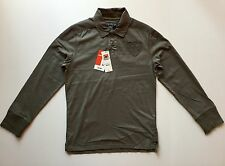 Nwt Celio Men's Long Sleeve Polo Shirt Army Green Color Size Medium M