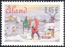 Aland 2004 Christmas/Greetings/Santa Claus/Letters/Windmill/Birds 1v (af1005)