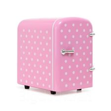 New Portable Refrigerator 4 Liter Mini Cooler & Warmer, Cosmetic Fridge Pink