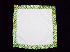 Little Wishes Hobby Lobby Baby Blanket White Minky Red Green Polka Dot Trim