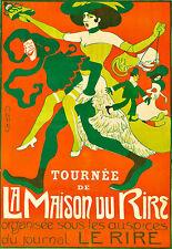 Art Ad La Maison du Rire  Deco Poster Print