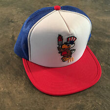 MINT 80s 1984 MCDONALDS OLYMPICS USA RED WHITE BLUE TRUCKER HAT ADJUSTABLE