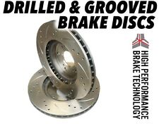 LEXUS IS200 1999-2006 all DRILLED GROOVED BRAKE DISCS Front