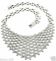TAXCO MEXICAN STERLING SILVER CHAIN LINK BEADED BEAD NECKLACE MEXICO