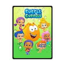 Hot New Design Custom Bubble Guppies Travel Home Office Soft Blanket 58x80 inch