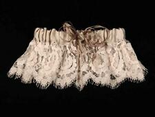AUTHENTIC Ossai SS10-GT-04 Ivory Lace Satin NEW Wedding Garter RETURN POLICY