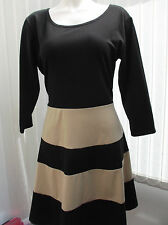 """be jealous"" ladies black and nude colour stripes size 20/22 b.n.w.t."