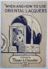 When and How to Use Oriental Lacquers, Thayer & Chandler 1925, Pyrography, Gesso