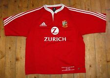RARE BRITISH LIONS 2005 Tour Rugby Union MATCH DETAIL EMBROIDERY Shirt Jersey L