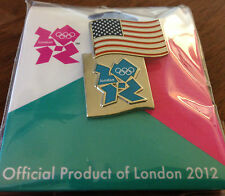 London 2012 USA Flag and London Logo Olympic Pin