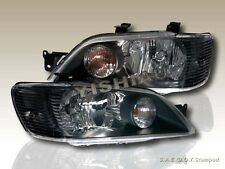 2002 2003 MITSUBISHI LANCER ES/LS BLACK HEADLIGHTS NEW