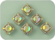 2 Hole Beads Gala Aurora Borealis/AB Swarovski Crystal Elements ~Sliders~ QTY 6