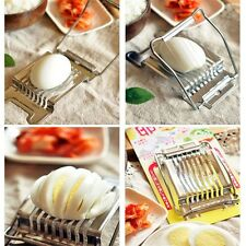 Stainless Steel Boiled Egg Slicer Cutter Fruit Vegetable Chopper Kitchen LO