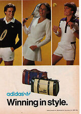 "1980's Adidas 'Winning In Style"" Apparel & Bags Vintage Print Advertisement"