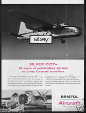 SILVER CITY AIRWAYS BRISTOL SUPER FREIGHTER CROSS CHANNEL FOR 10 YRS 1958 AD