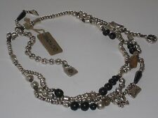 NWT UNO DE 50  NECKLACE HAND CRAFTED in SPAIN with  BEADS AND CHARMS MSRP $365
