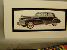 1941 Cadillac     Artist Auto Museum Full color Artist Illustrated