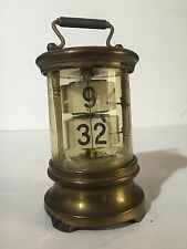 Genuine Antique Ever-ready. Ticket / Plato Type Clock card Brass WORKS!