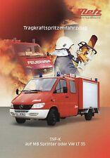 Prospekt Metz Tragkraftspritzenfahrzeug TSF K auf MB Sprinter VW LT 35 4 00 2000