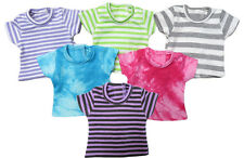 Lot of 6 Knit T-Shirts, Tees for Kidz 'n' Cats Dolls.  Stripes and tie dye.