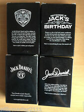 SET OF 4 JACK DANIELS 4oz  BIRTHDAY  HIPFLASK FROM 2008
