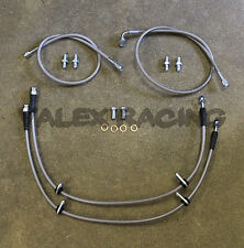 Complete Stainless Front Brake Line Replacement Kit 88-91 Honda Civic / CRX EF