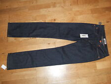 BNWT Acne Hep Raw Slim Straight Leg Womens Dark Blue Jeans 24 32 uk 6