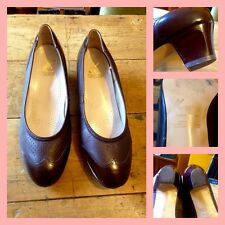Vintage 50's 60's Brown Leather K Shoes Wing Tip Court Shoes UK 6 Mod GoGo
