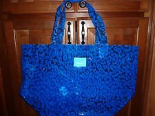 VICTORIAS SECRET PINK LEOPARD JELLY CLEAR LARGE DUFFLE BEACH TOTE BAG NWT