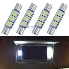 4X Xenon White 3SMD 5050 LED Bulbs Interior Sun Visor Vanity Mirror Lights 6641
