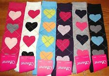 6 Pairs Ladies Girls HEARTS LINES Knee-High Socks Secret Thick Lot Size 9-11 #EJ
