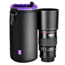 Neewer Large Lens Pouch Bag (Purple Interior)