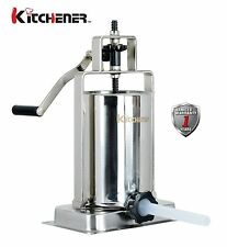 NEW KITCHENER Stainless Steel Vertical Sausage Stuffer Filler Maker 10 lbs Home